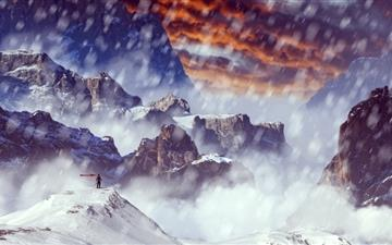 Snow capped mountains All Mac wallpaper