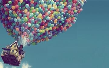 Balloon House Mac wallpaper