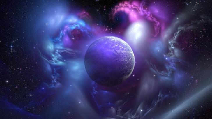 Nebula And Planet Mac Wallpaper