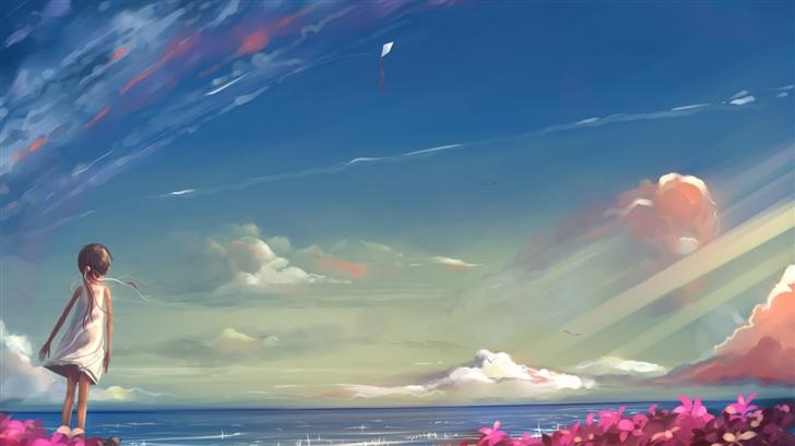 Seaside Girl Mac Wallpaper