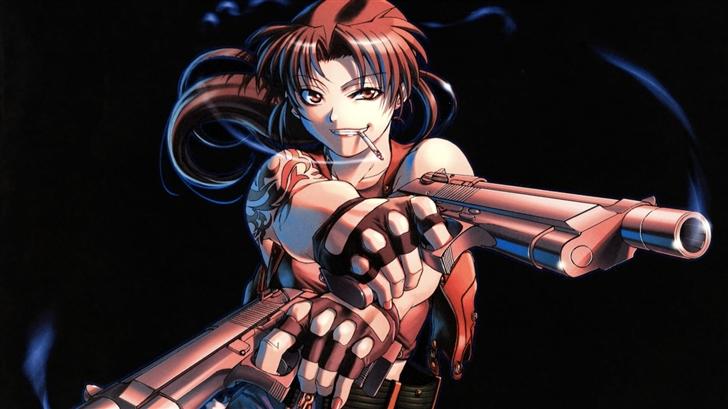 The girl with guns Mac Wallpaper