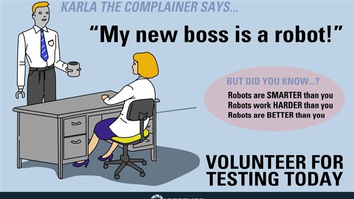 My new boss is a robot Mac Wallpaper