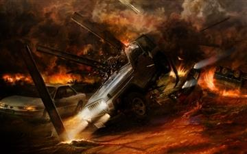 Car crashes MacBook Air wallpaper