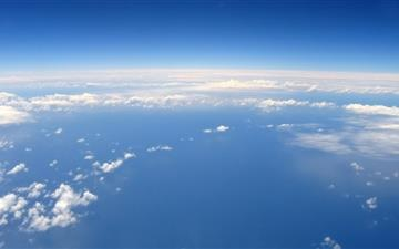 The sky above the clouds Mac wallpaper
