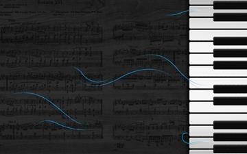 The piano and music score Mac wallpaper