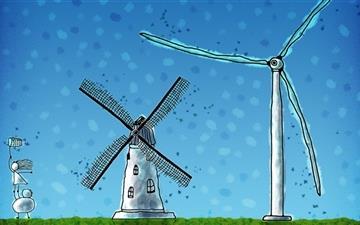 The windmill Mac wallpaper
