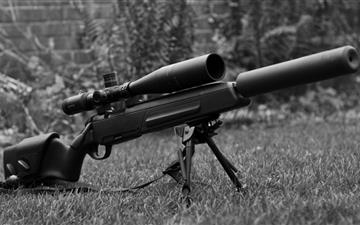 The sniper rifle MacBook Air wallpaper