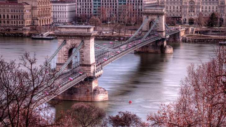 The bridge in Budapest Mac Wallpaper