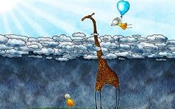 The giraffe's sky