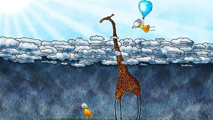 The giraffe's sky Mac Wallpaper