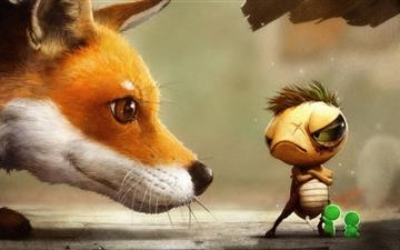 The fox and the tortoise All Mac wallpaper