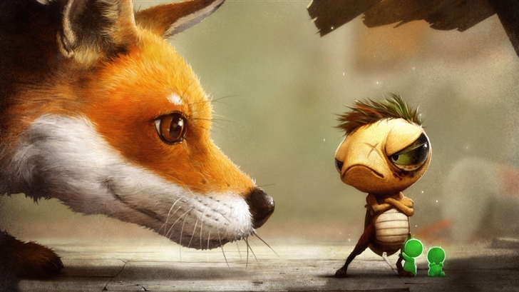 The fox and the tortoise Mac Wallpaper