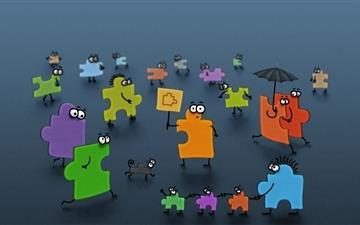 Puzzle men Mac wallpaper