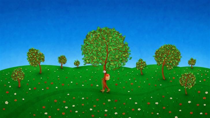 The walking tree Mac Wallpaper