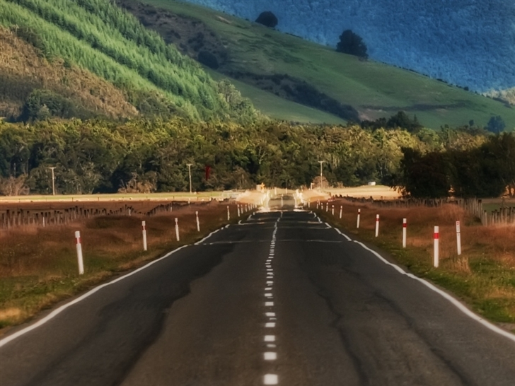 Road In New Zealand Mac Wallpaper