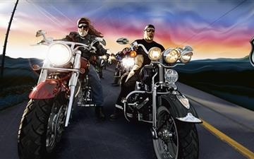 The march past of the motorcycle guards MacBook Air wallpaper