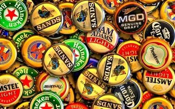 Beer cap Mac wallpaper