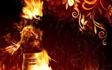 Fire beauty Mac wallpaper