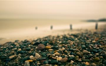 Beach Pebbles Autumn Mac wallpaper