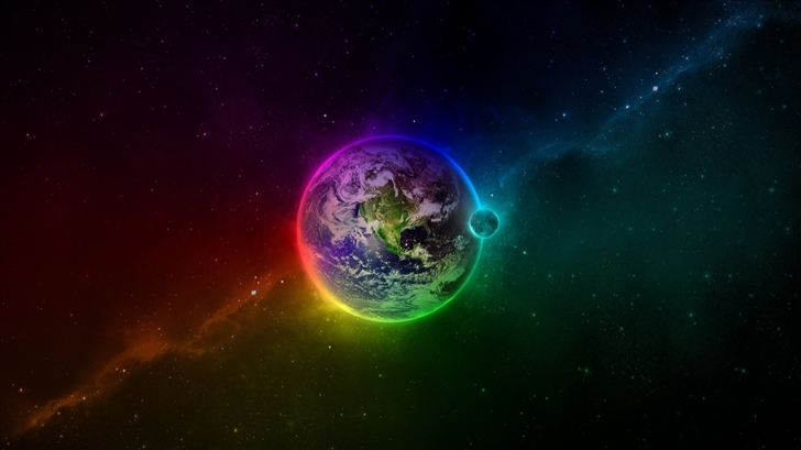 Colorful Earth Mac Wallpaper