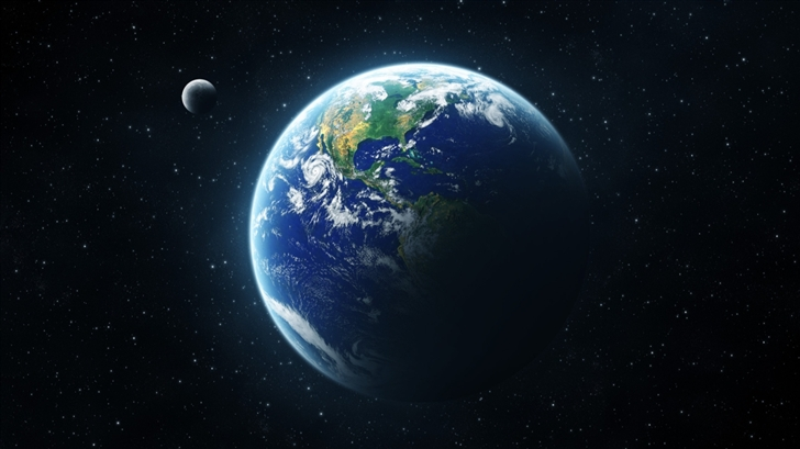 Earth and Moon Mac Wallpaper