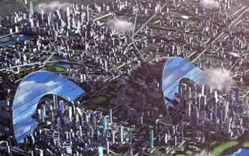 Monster City Mac wallpaper