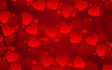 Valentine's  Day Red Hearts Mac wallpaper