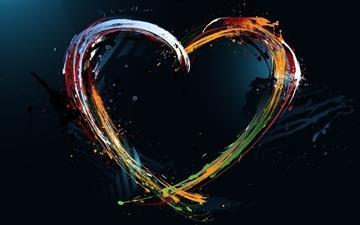 Paint Splash Heart Mac wallpaper