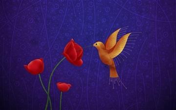 A bird Mac wallpaper