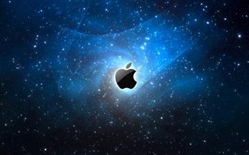Apple Galaxy Blue Mac wallpaper