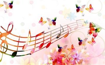 Musical Notes Butterflies Mac wallpaper