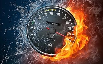 Speedometer Fast Mac wallpaper