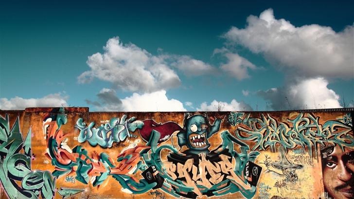 Graffiti Wall Art Mac Wallpaper