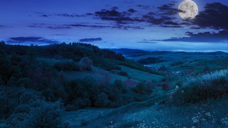 Moonlit night Mac Wallpaper