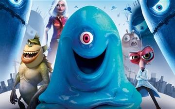 Monsters vs Aliens All Mac wallpaper