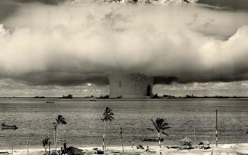 Mushroom cloud Mac wallpaper