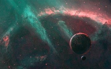 Fantasy space MacBook Air wallpaper