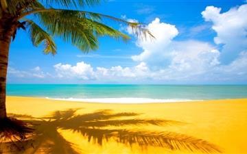 A beautiful beach Mac wallpaper