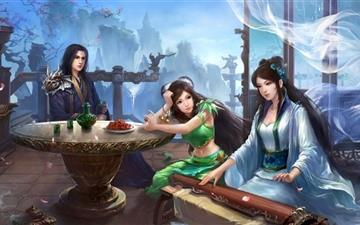 Jade Dynasty Artwork Mac wallpaper