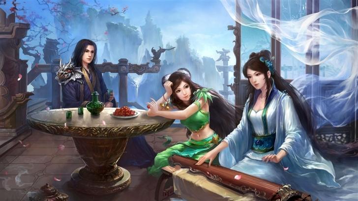 Jade Dynasty Artwork Mac Wallpaper