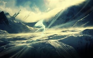 The  snowfield All Mac wallpaper