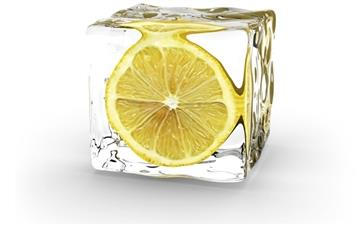 Lemon in ice Mac wallpaper
