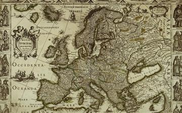 Map of Europe Mac wallpaper
