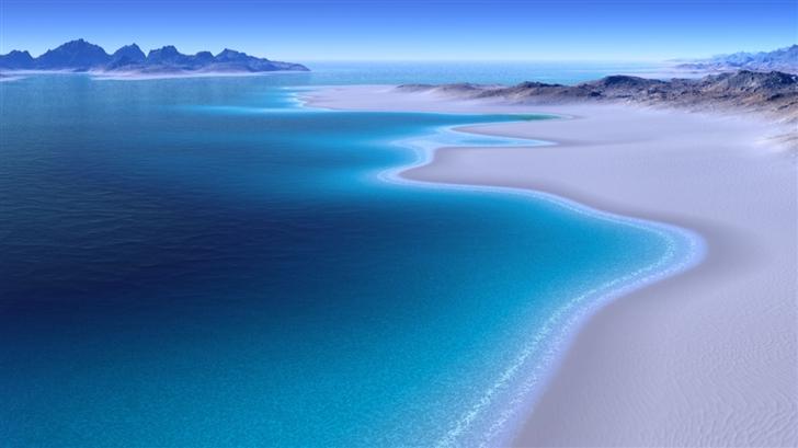 Beach Island Mac Wallpaper