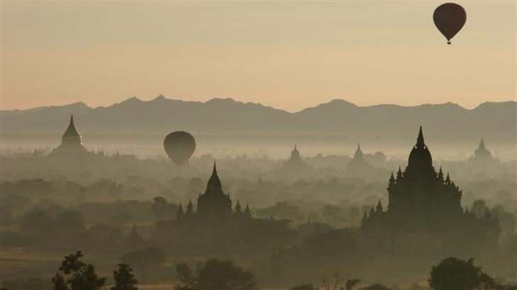 City of fog Mac Wallpaper