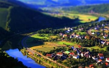 Village Tilt Shift All Mac wallpaper