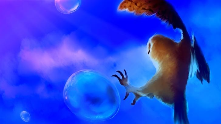 Flying owl Mac Wallpaper