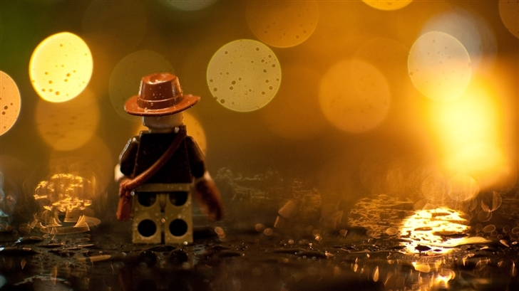Indiana Jones Lego In The Rain Mac Wallpaper