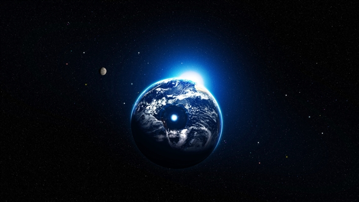 Earth and sun Mac Wallpaper