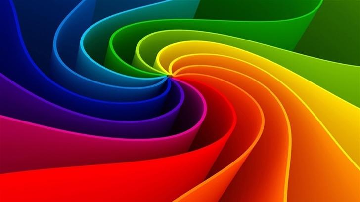 Colorful Rainbow Mac Wallpaper